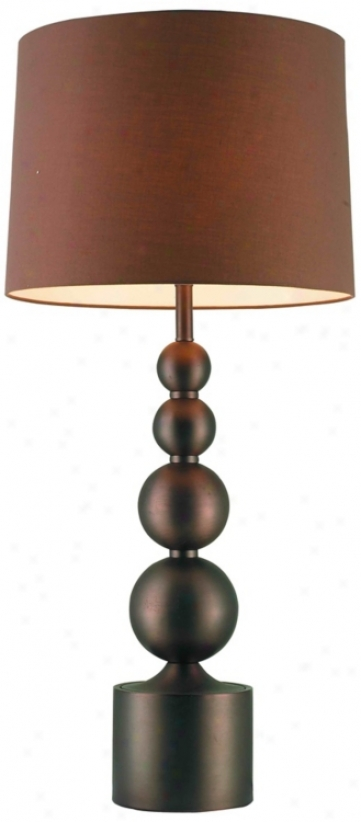 Possini Euro Design Stacked Bronze Globes Table Lamp (t3814)