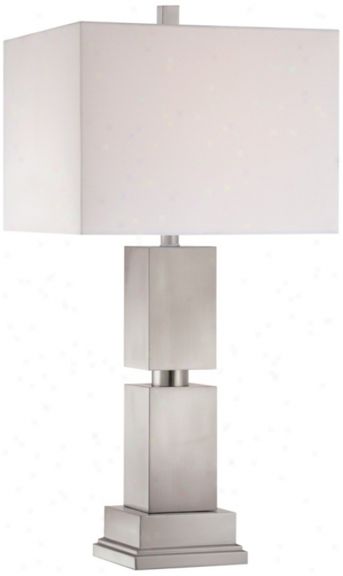 Possini Euro Design Stacked Steel Cubes Table Lamp (r3762)