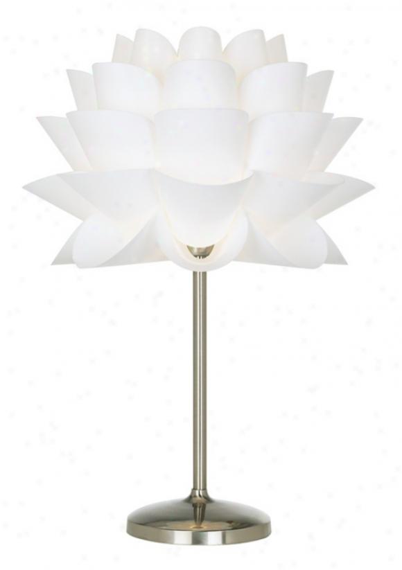 Possini Euro Design White Flower Acrylic Shade Table Lamp (96811)