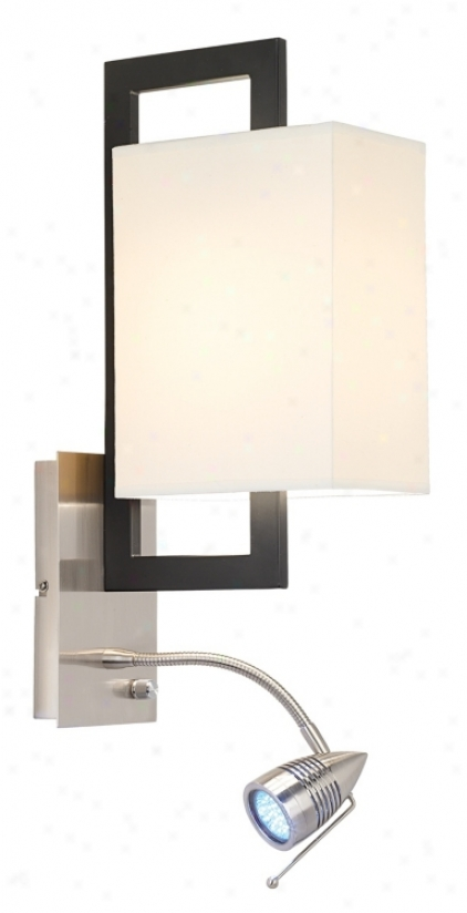 Possini Euro Floating Rectangle Led Plug-in Wall Light (56191)