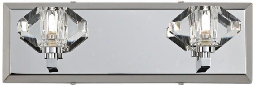 "Possini Euro Gem Clear Glass 15"" Wide Bathroom Wall Light (t8756)"