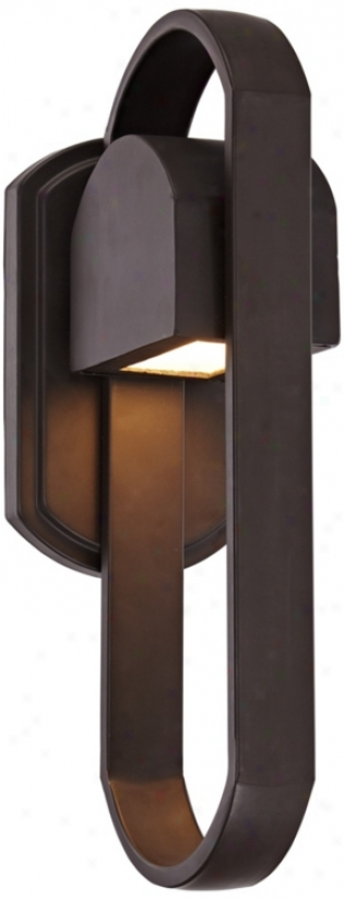 "Possini Euro Loop 15"" High Bronze Outdoor Wall Light (u4560)"