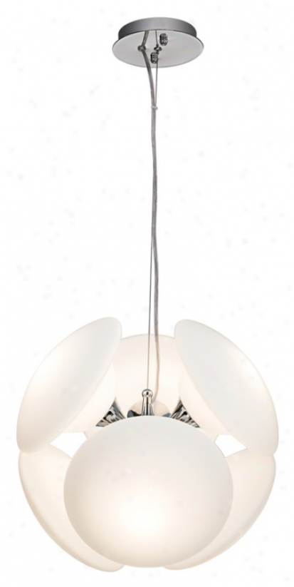 Possini Euro Mushrooms White 6-light Pendant Chandelier (97937)