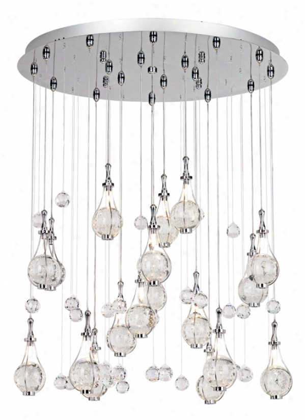Possini Euro Paperweight Crystal Chandelier (12270)
