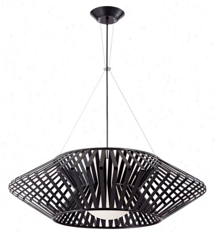 Posssini Euro Planet Chrome And Black Pendant Chandelier (k6114)