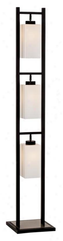 Possini Euro Rectangular Hanging Opal Glass Overthrow Lamp (85561)