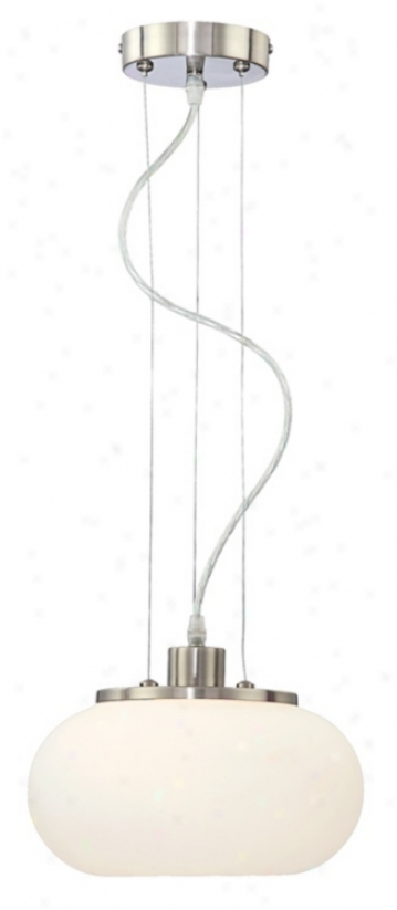 "Possini Euro True Sound White Glass 10 1/4"" Wide Mini Pendant (75385)"