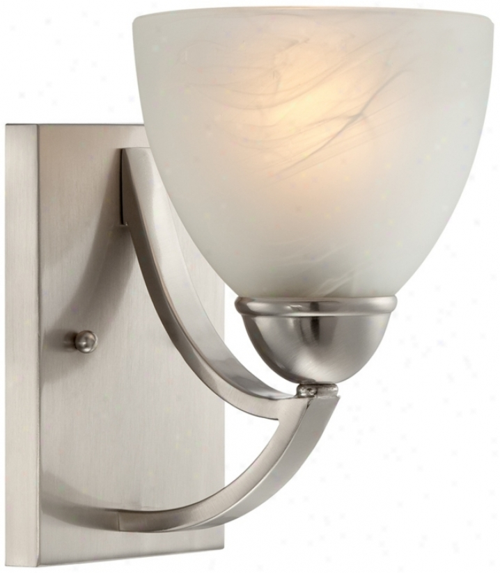 "Possini Milbury Marbleized Glass 9"" High Wall Sconce (t8974)"