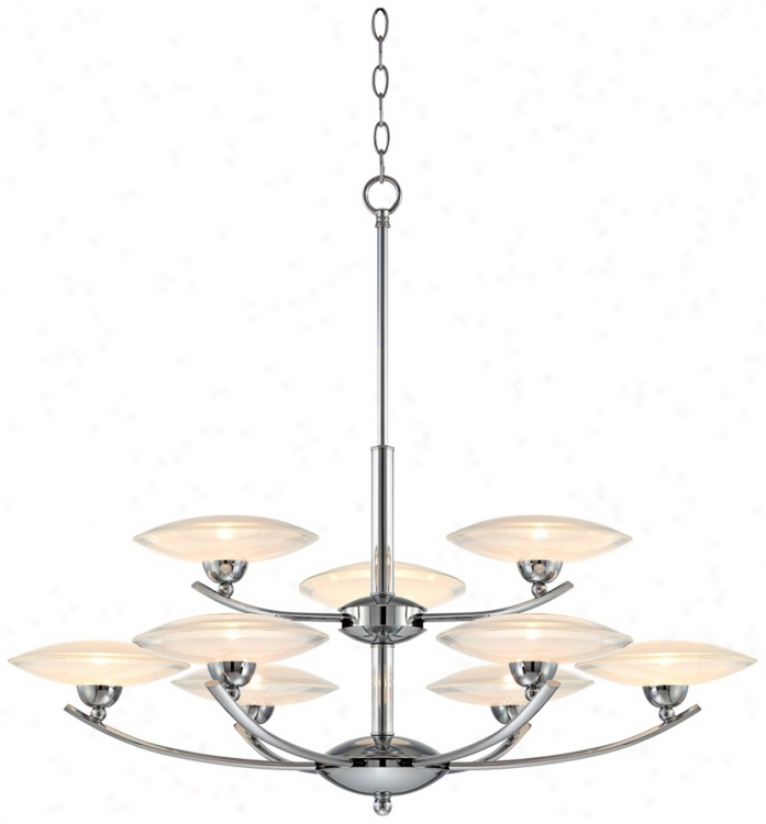 "Possini Modern Chrome With Clear Glass 33"" Wide Chandelier (r0784)"