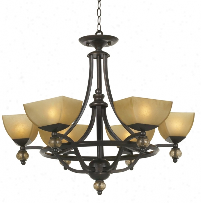 Possini Morocco Collection Six Light Round Chandelier (50865
