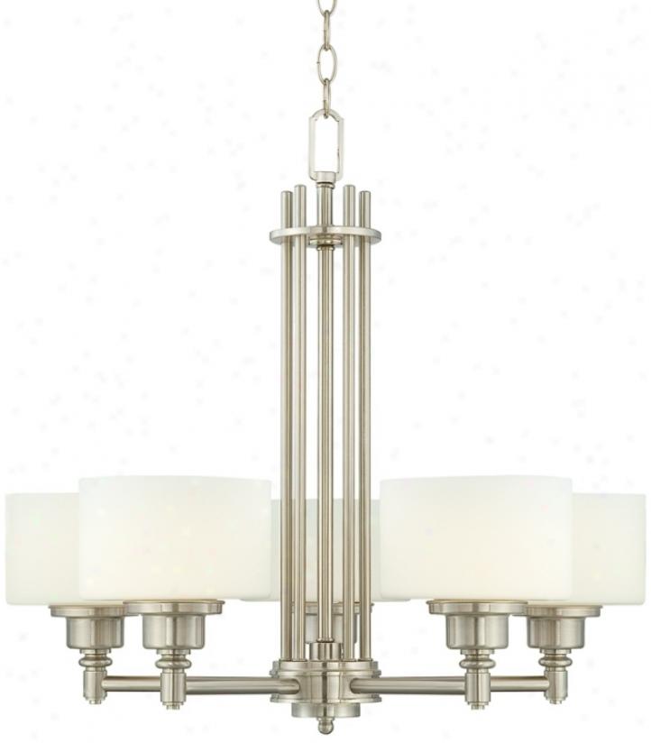 """Possini Opal Glass 26 1/2"""" Remote 5-light Chandelier (r0126)"""