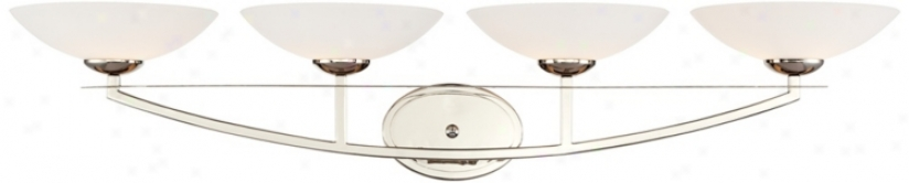 Possini White Bowl 4-light Bath Fixture (u4399)