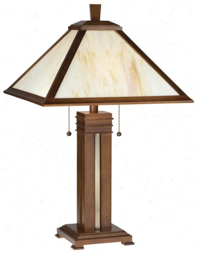 Prairie Style With Honey Glass Table Lamp (42014)