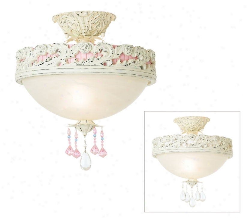 "Pretty In Pink 13 1/2"" Wide Tax Look Ceiling Light (69790)"