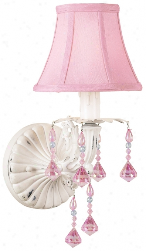 Pretty In Pink Plug -in Denominate Wall Sconce (60926)