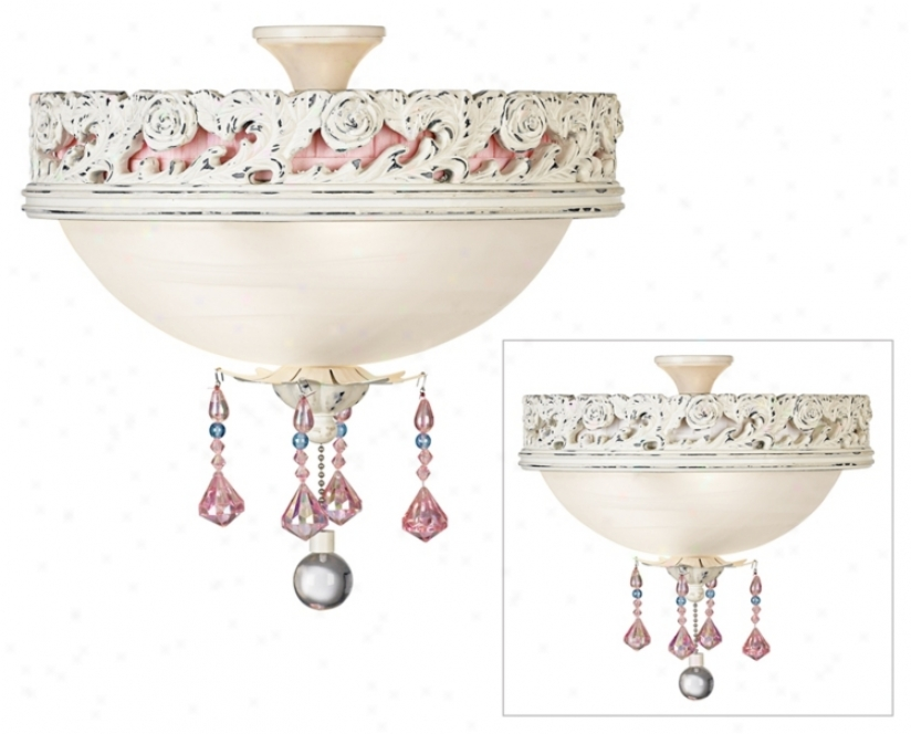 Pretty In Pink Pull Chain Ceiling Fan Light Kit (13985)