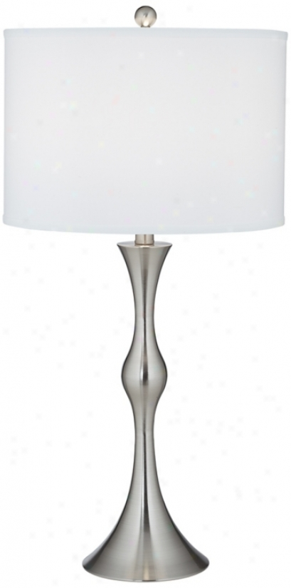 Prima Brushed Steel Contoured Table Lamp (j2264)
