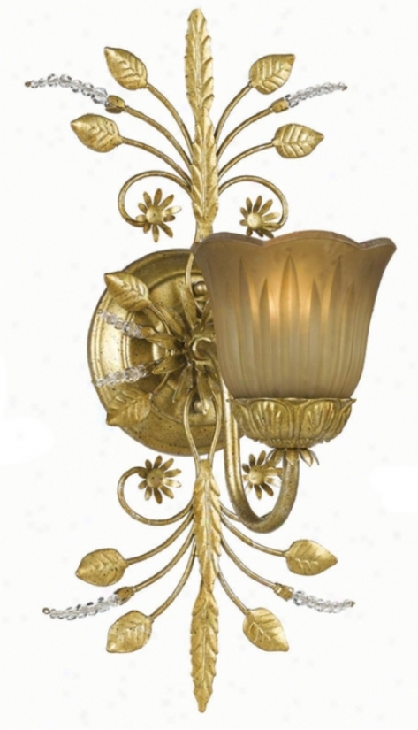 Primrose Collection Gold One Light Wall Sconce (g6363)