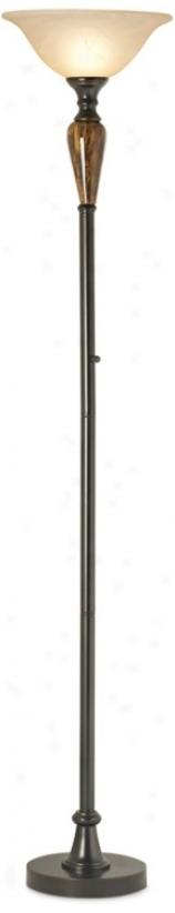 Princeton Brass Torchiere Floor Lamp (r1146)