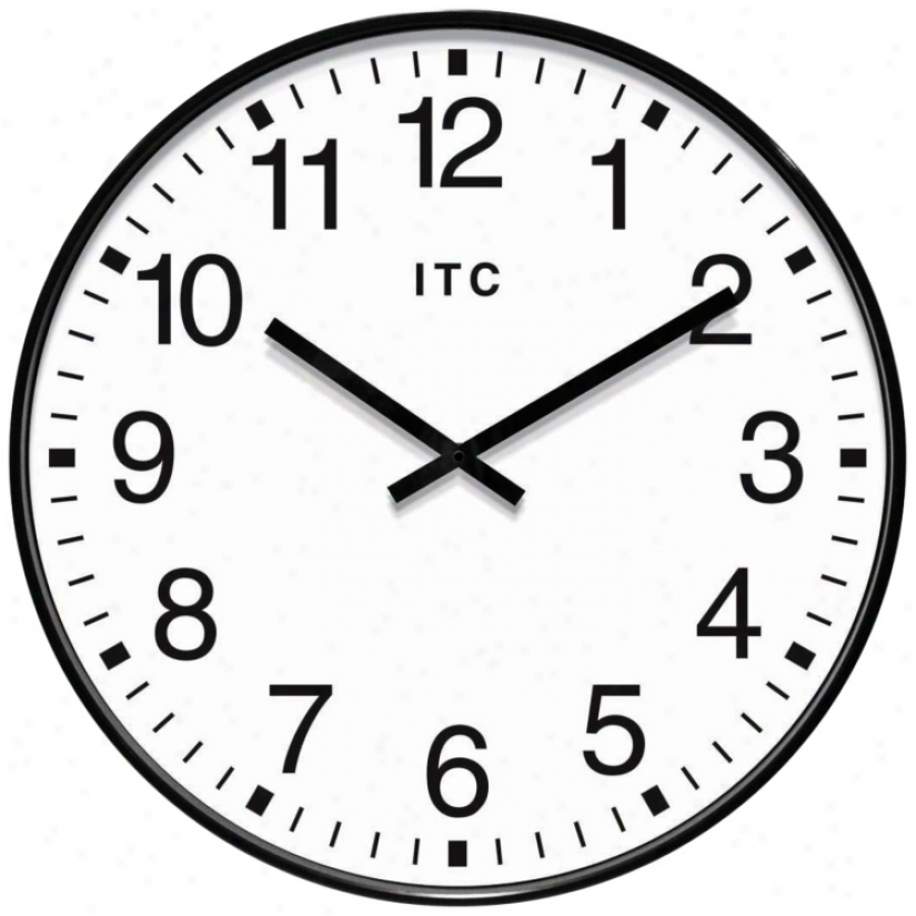 "Profuse 19"" Black Round Wall Clock (w1010)"