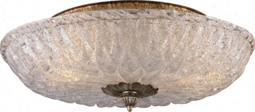 "Providence Antique Silver 15"" Wide Ceiling Light Fixture (k2890)"