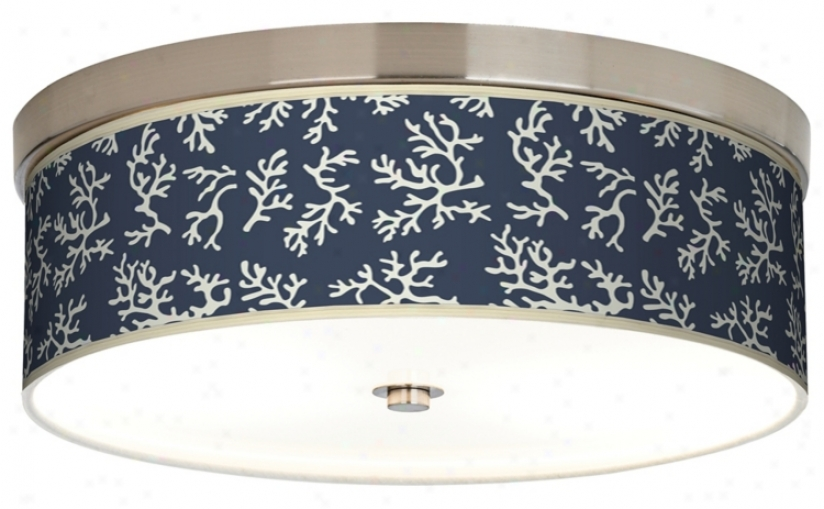 Prussian Coral Giclee Energy Efficient Ceiling Light (h8796-k3988)