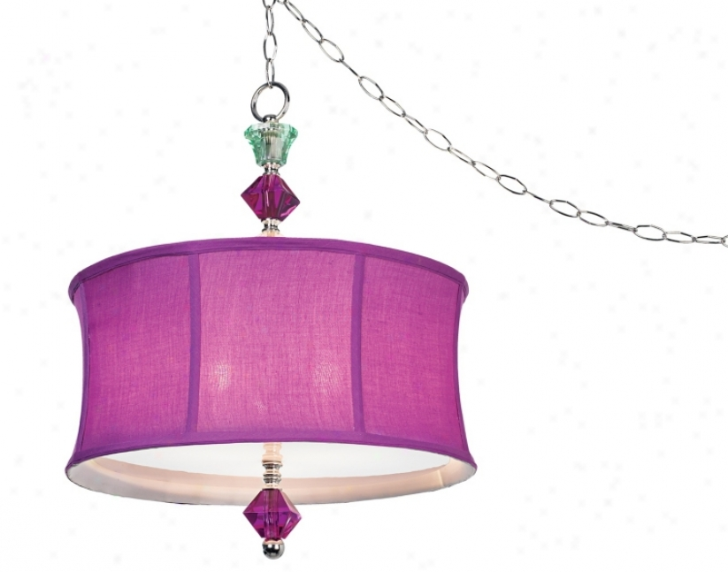 Purple Bijoux Swag Plug-in Style Pendant (06318)