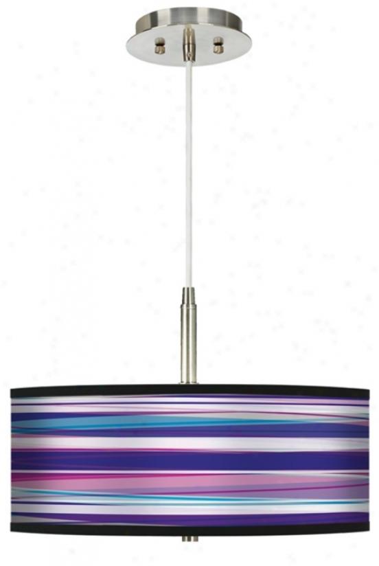 Purple Neon Giclee Pendant Chandelier (g9447-h1044)