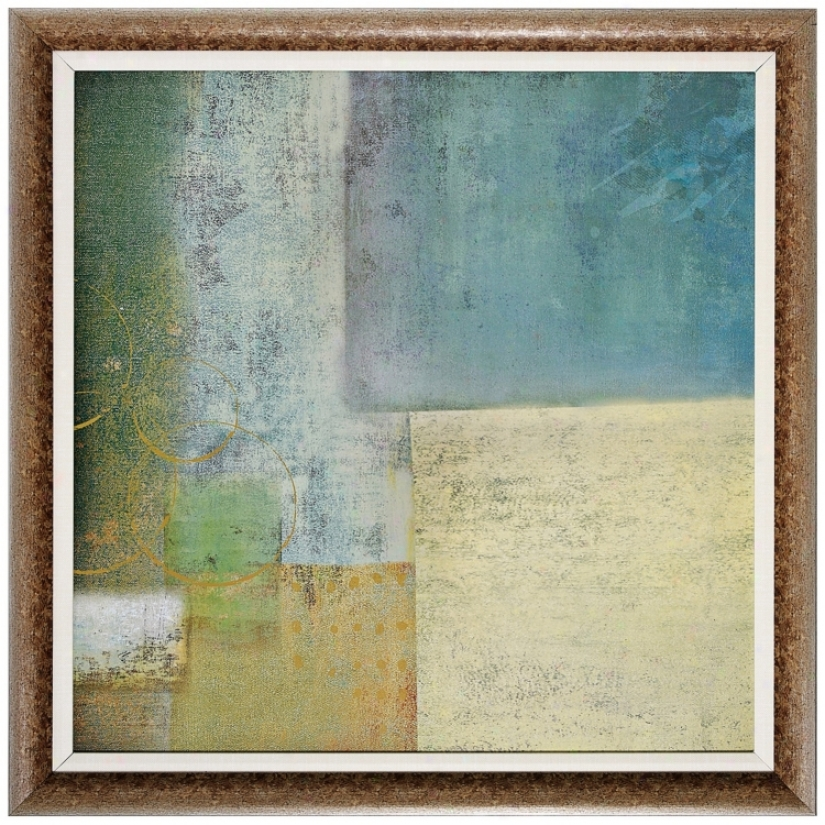 "Quiet Composure Ii 30"" Square Framed Wall Art (v7335)"