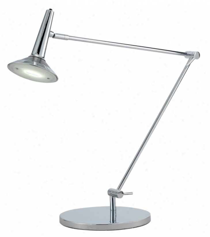 Radar Chrome Adjustable Led Desk Lamp (m1275)