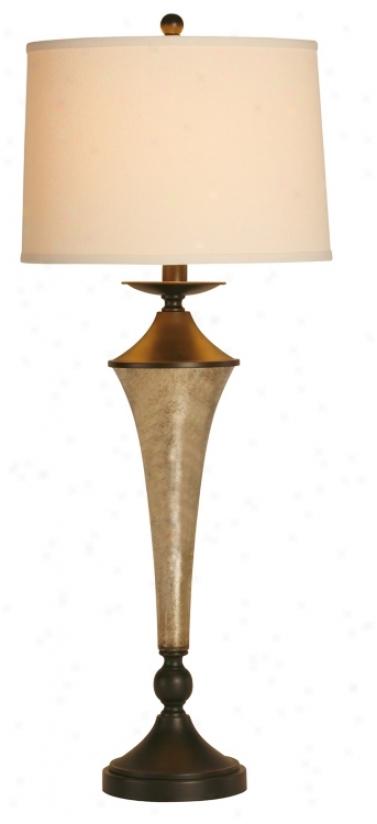 Raschella Fairfax Tall Glass Column Table Lamp (f1519)