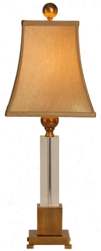 Raschella Glass Block Coffee Bronze Accomplish Table Lamp (f1524)