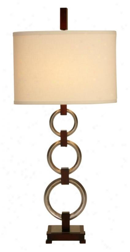 Raschella Satin Nickel Three Ring Table Lamp (14448)