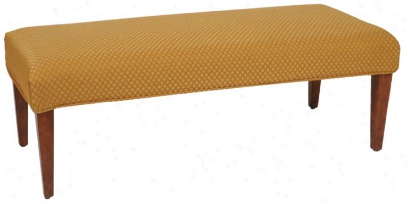 Rastel Slipcovered Walnut Straight Leg Upholstered Bench (79320-t6129)