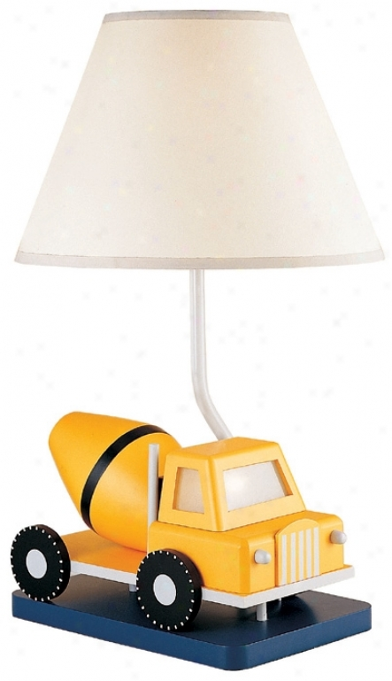 Easy To Work! Cement Mixer Table Lamp (45634)