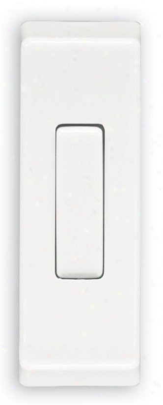 Rectangular White Surface Mount Wireless Doorbell Button (k6446)
