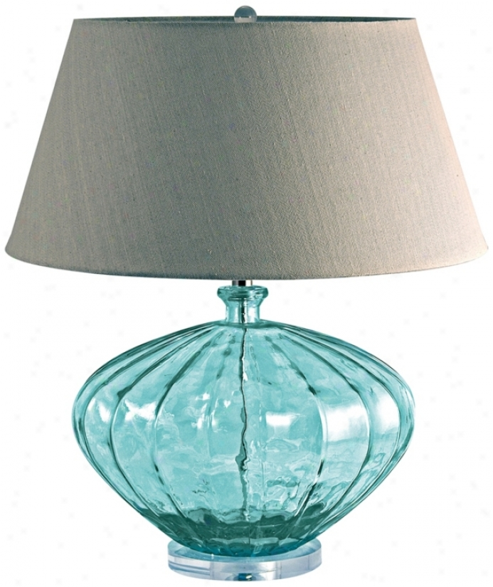 Rscycled Glass Meloh Table Lamp (n2178)