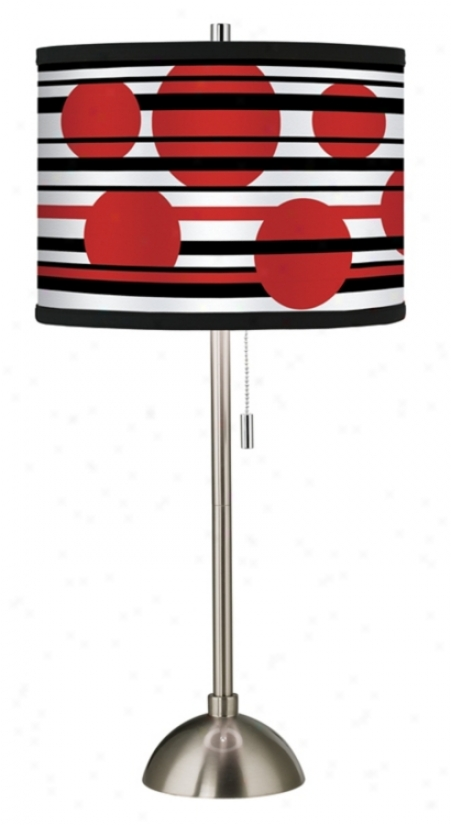 Red Balls Giclee Shade Table Lamp (60757-58472)