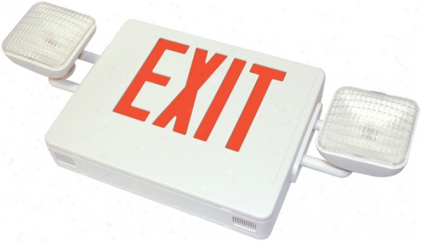Red Emergency Light Exit Sign (47665)