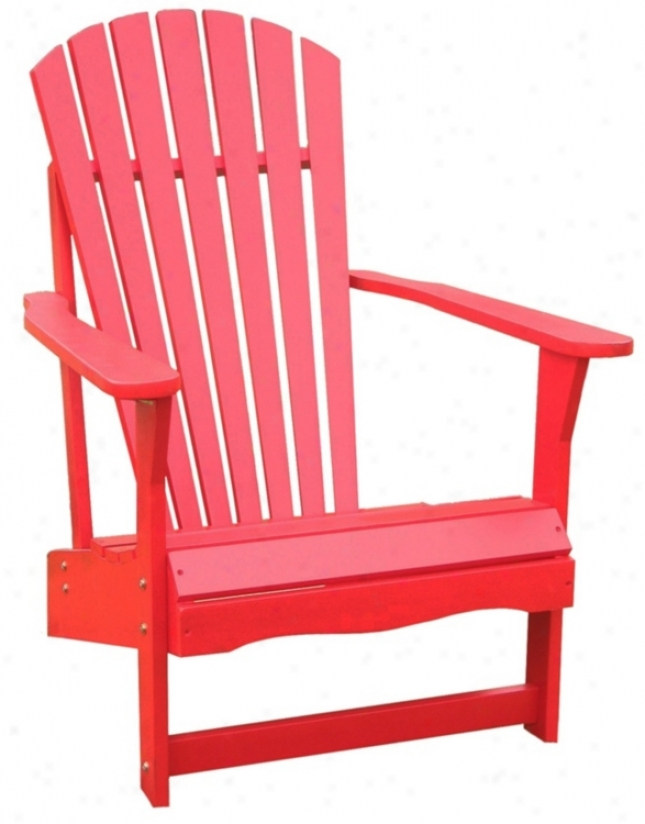 Red Poplar Wood Adirondack Seat of justice (t4745)