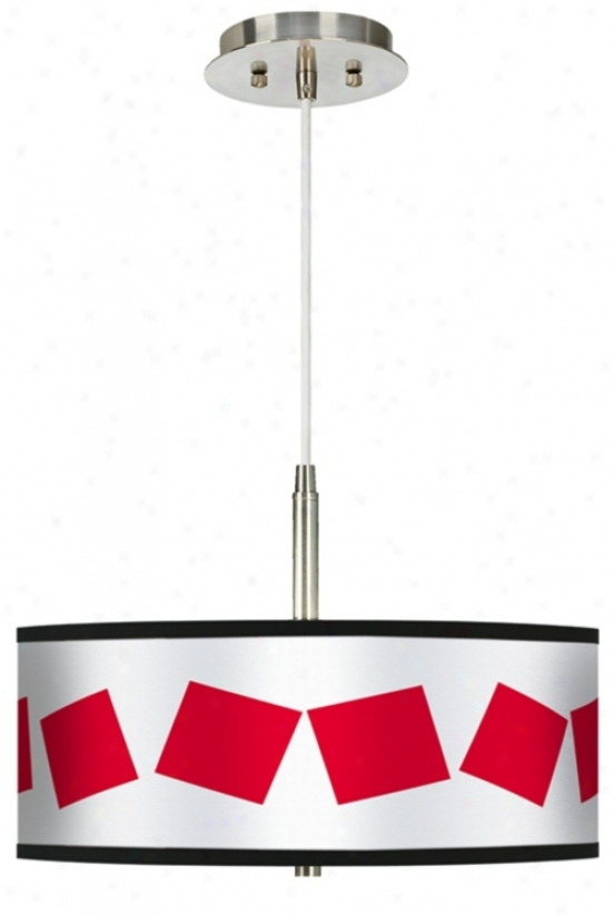 Red Squaree Giclee Pendat Chandelier (g9447-h1042)