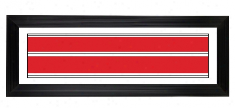 """Red Stripes Giclee 52 1/8"""" Wide Wall Art (68719-80277)"""