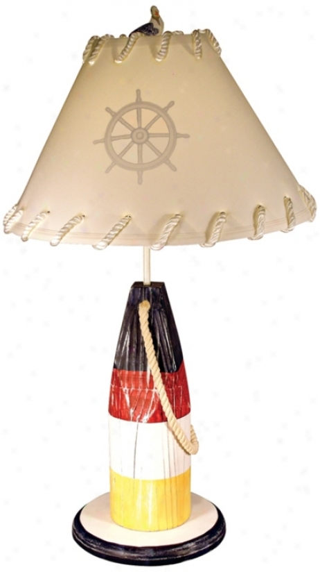 Red Yellow And Blue Buoy Table Lamp (m5423)