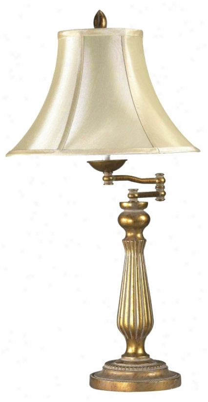 Regency Collection Antiqus Gold Swing Arm Table Lamp (95257)