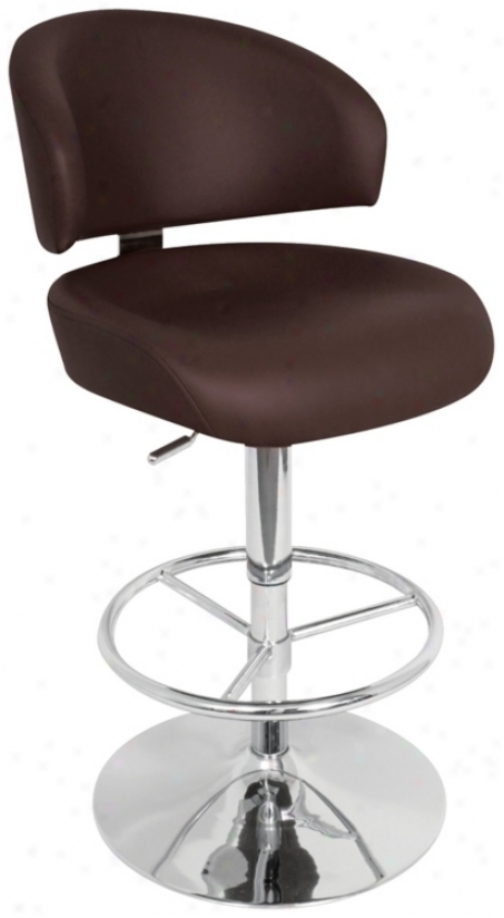 Regent Brown Adjustable Bar Stool Or Counter Stool (h8125)