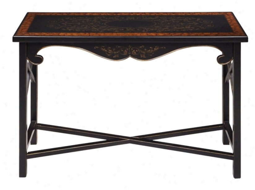 Regents Dis5ressed Ebony Console Table (t2286)