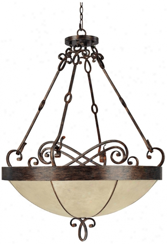 "Reserve Collection Rustic Finish 33 3/4"" Wide Pendant Light (t3271)"