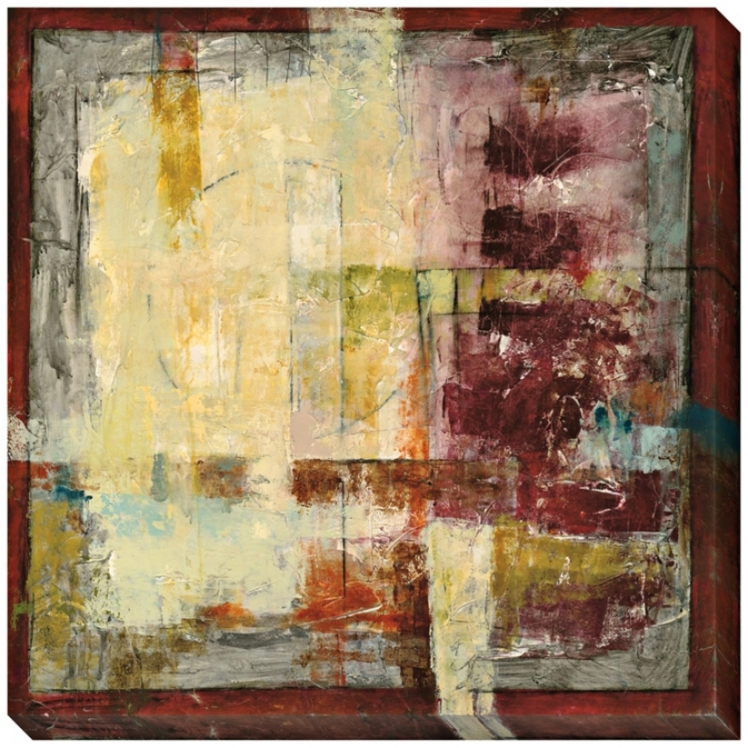 """Resilient Ii Giclee Impress Indoor/outdoor 40"""" Square Wall Art (l0389)"""