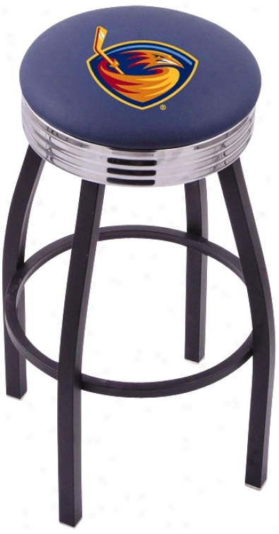 Retro Atlanta Thraqhers Hockey Sports Bar Stool (t9198)
