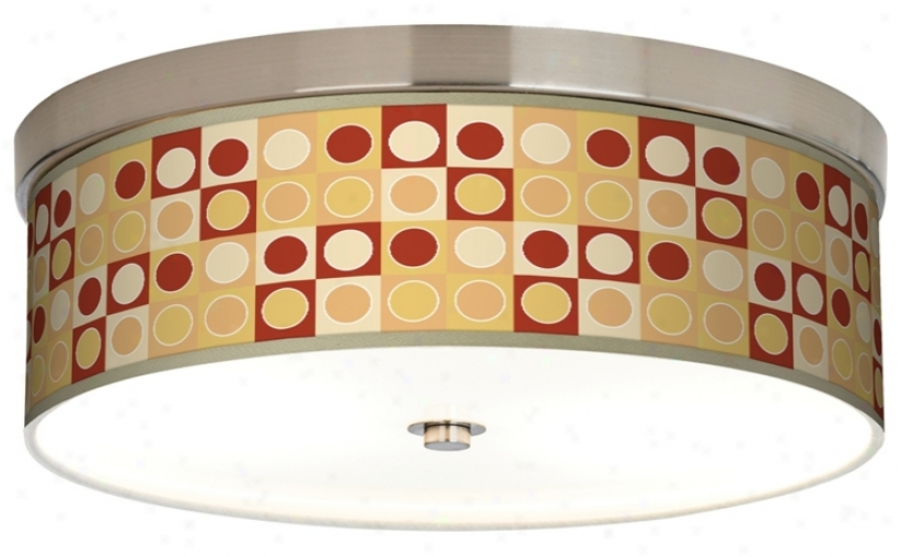 Retr Dootted Squares Giclee Energy Efficient Ceiling Light (h8796-k2078)